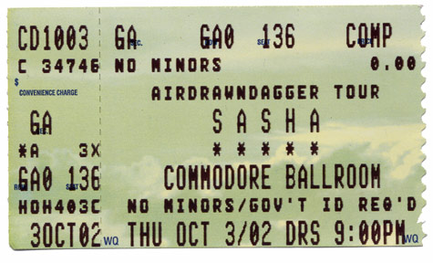 sasha ticket