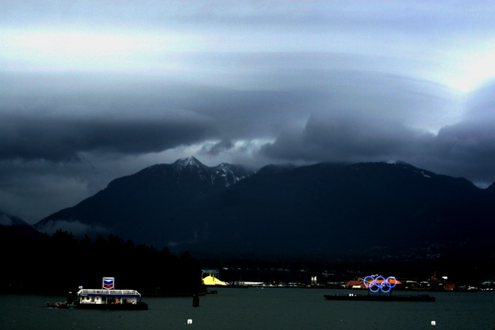 Vancouver during the olympics